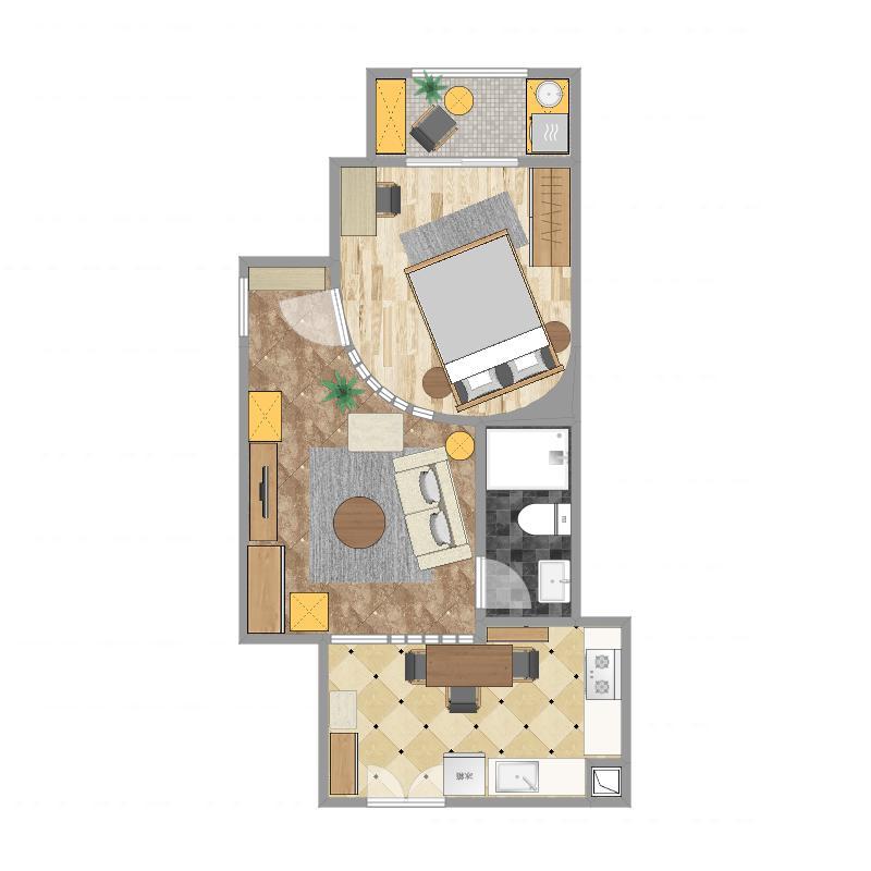 第三届云设计大赛--单身公寓最终方案-副本户型图大全