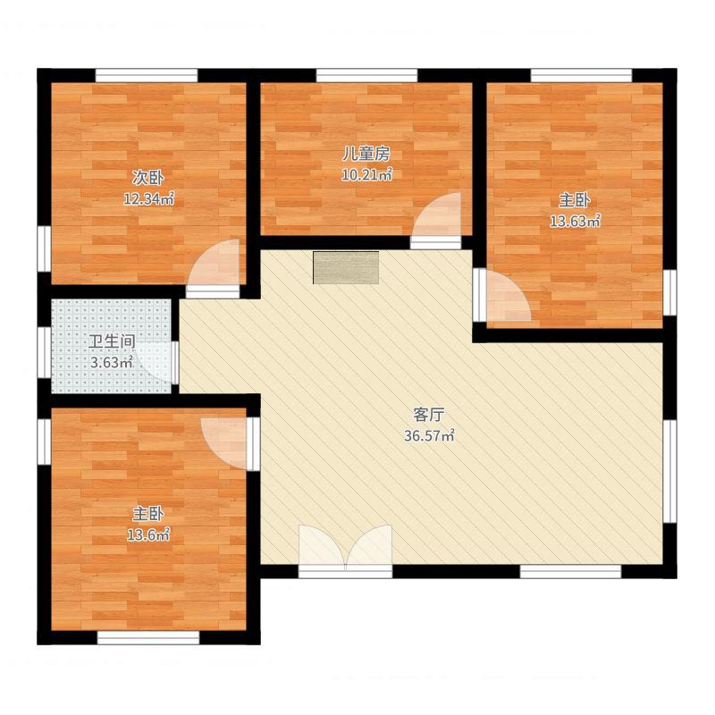 农村4室1厅1卫0厨112.00㎡户型图
