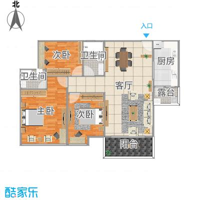923leon 广东 江门 坚胜尚城雅苑 3室1厅2卫1厨 134㎡ 1 / 80