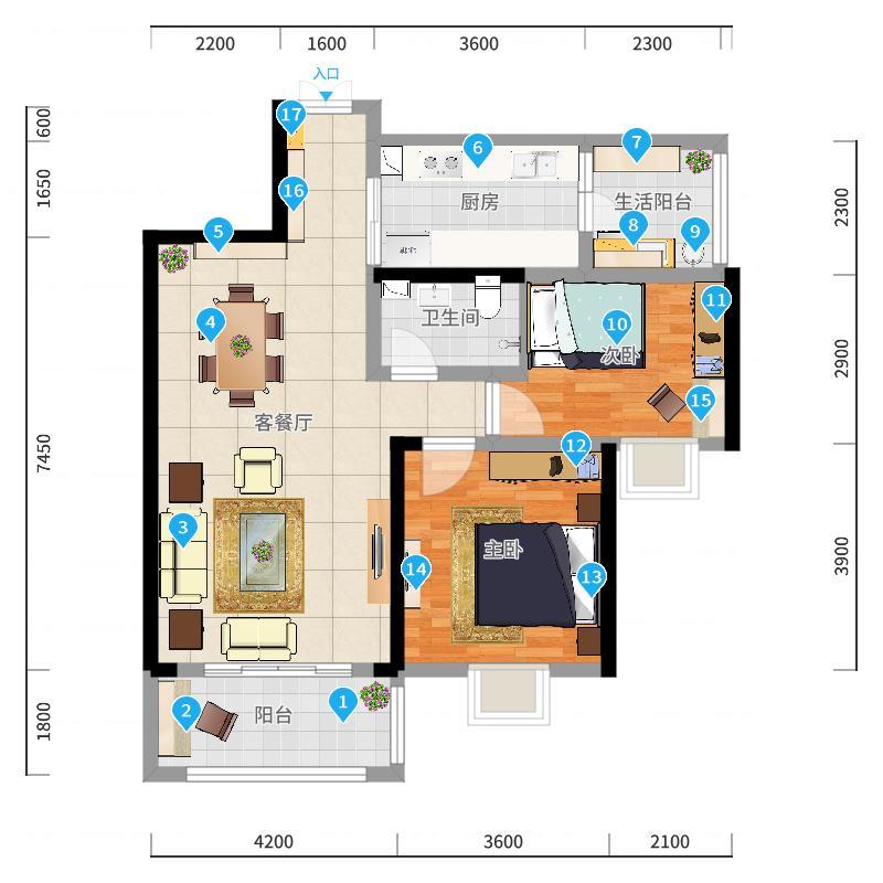 搭配顶面简约中式的木线条收边装饰及新中式的沙发,整体保留中式的魂