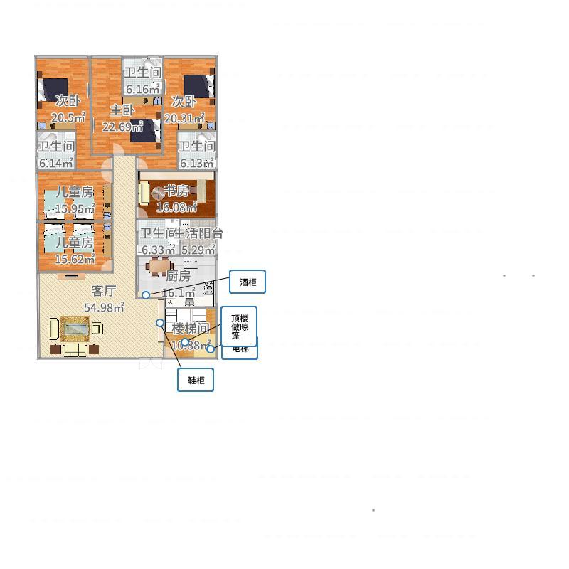 谁愿意帮我的自建房设计个户型图