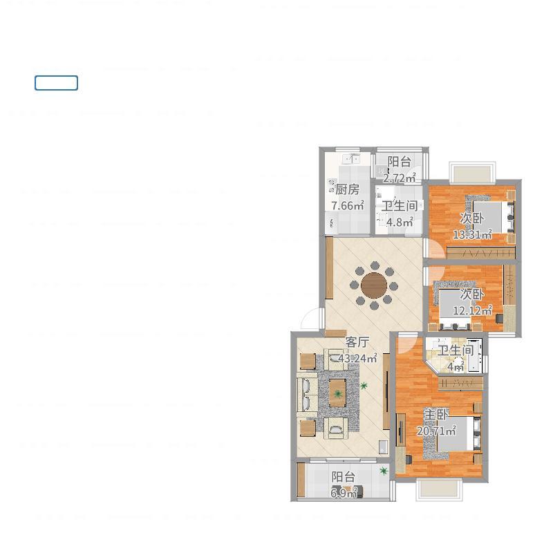 乐仙小镇18栋401房户型图大全,装修户型图,户型图分析