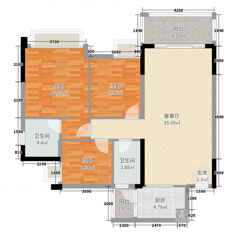 户型新天地3室2厅2卫1厨121.00远洋图广告设计中会遇到的a户型图片