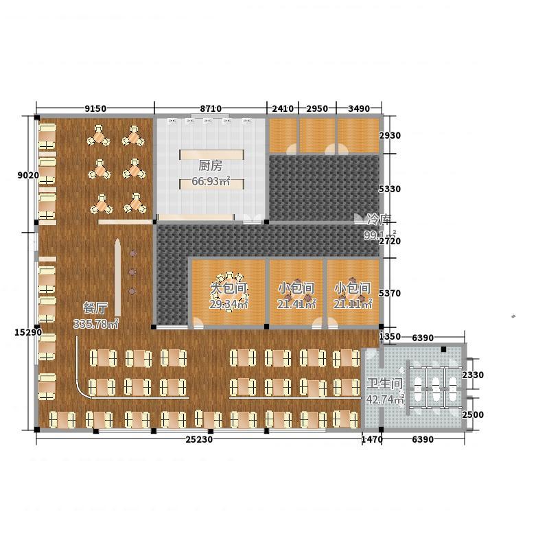 餐饮空间设计作业平面图1图片