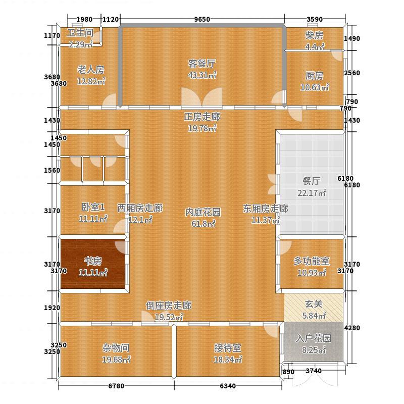 四合院平面布置方案二