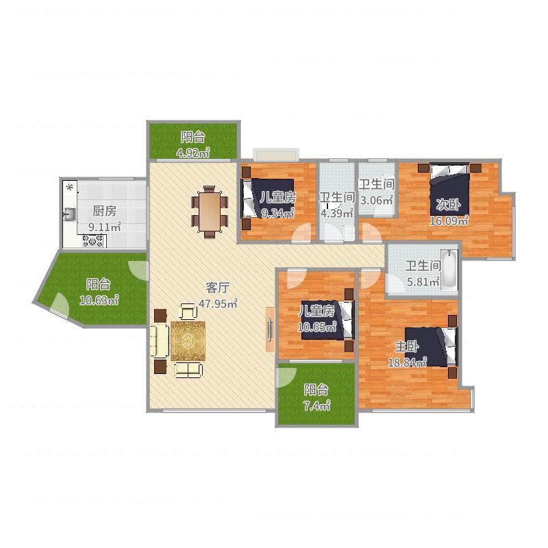 维港半岛4栋2202户型图大全,装修户型图,户型图分析