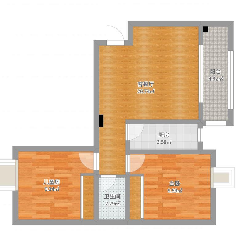 中国户型大全 兰州 印象江南 2室2厅1卫1厨 50-80㎡  罗若兰 建筑面积