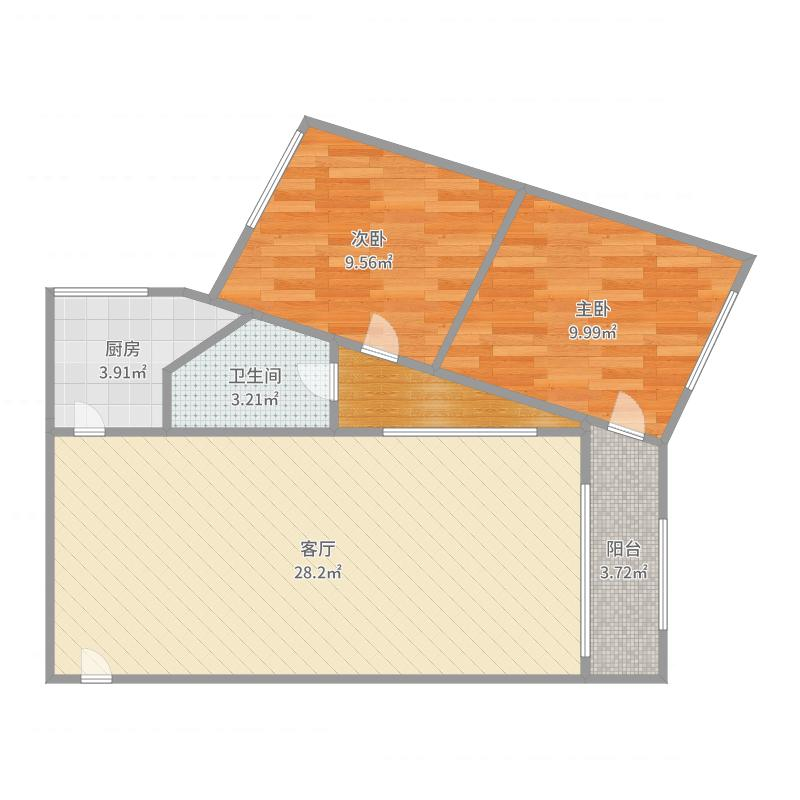 羊场核动力院户型2室1厅1卫1厨76.00圈舍图养中国宿舍设计图图片