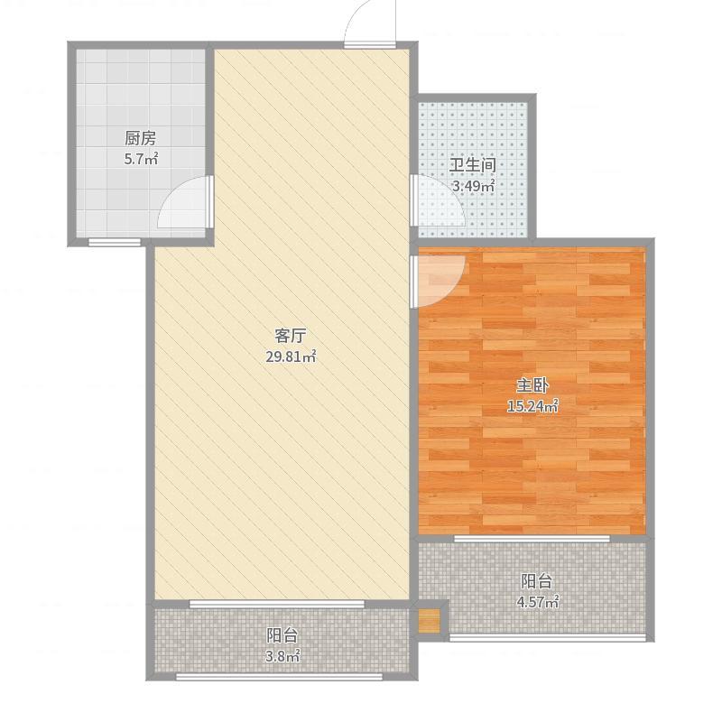 惠民佳苑一室一厅b户型图图片