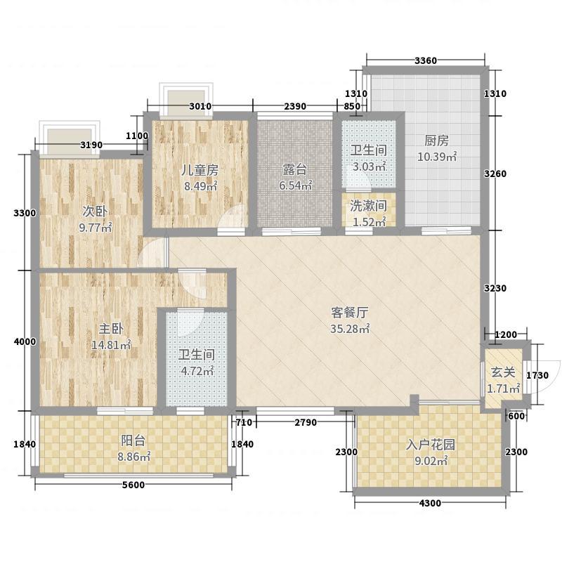 中国户型大全 成都 洛森堡新殿 3室2厅2卫1厨 130㎡及以上  mr周pomt