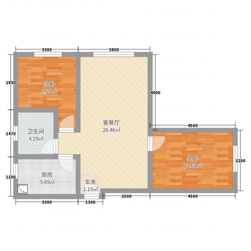 佳雨悦城2室2厅1卫1厨84.00户型图户型图大景观设计学西蒙兹下载图片