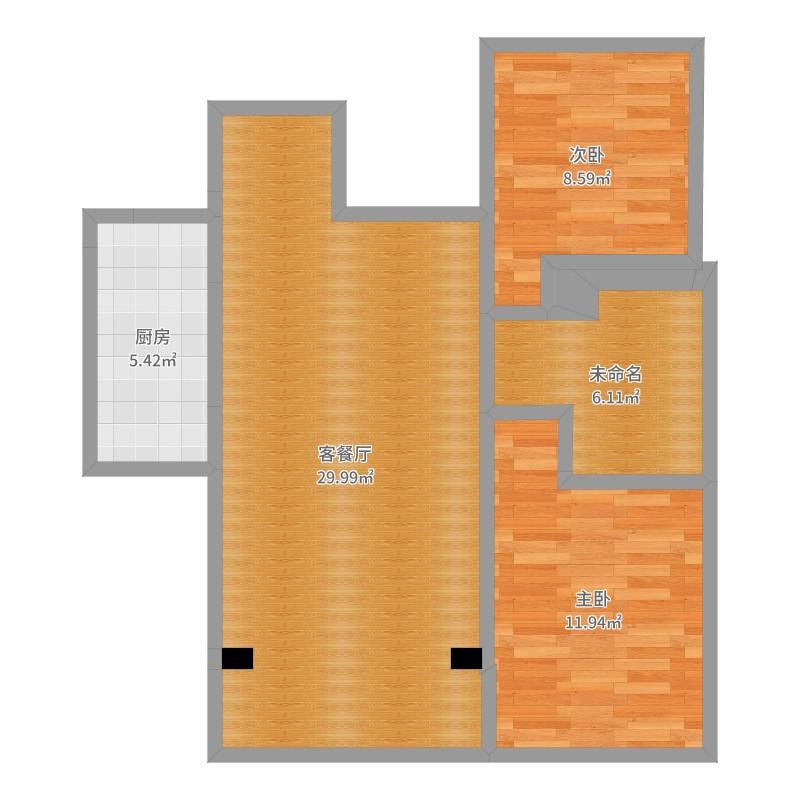 兰石豪布斯卡2室2厅0卫1厨93.00户型图宫廷欧洲户型风室内设计图片