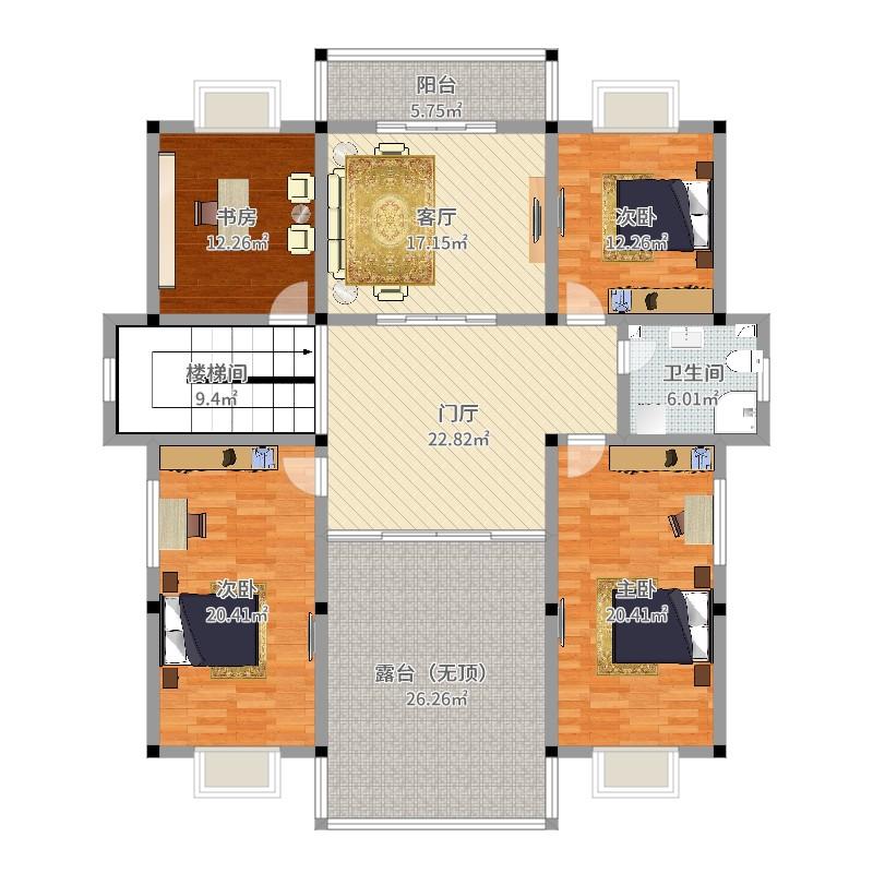 新农村4室1厅1卫0厨191.00㎡户型图