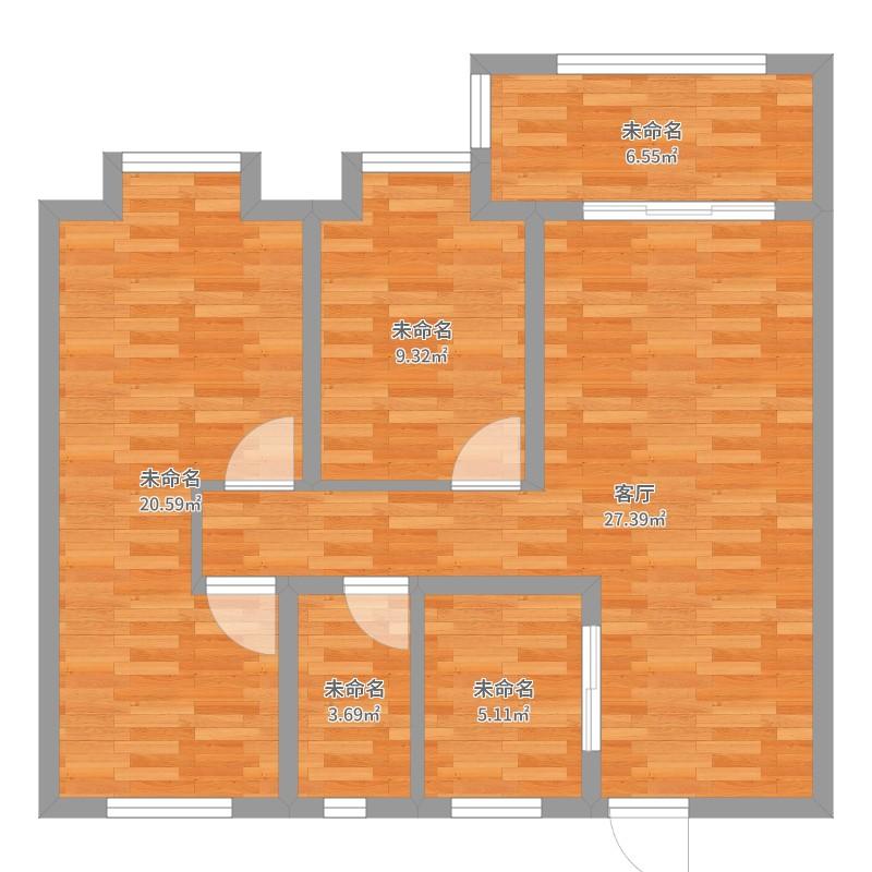 华润悦锦湾0室1厅0卫0厨93.00㎡户型图