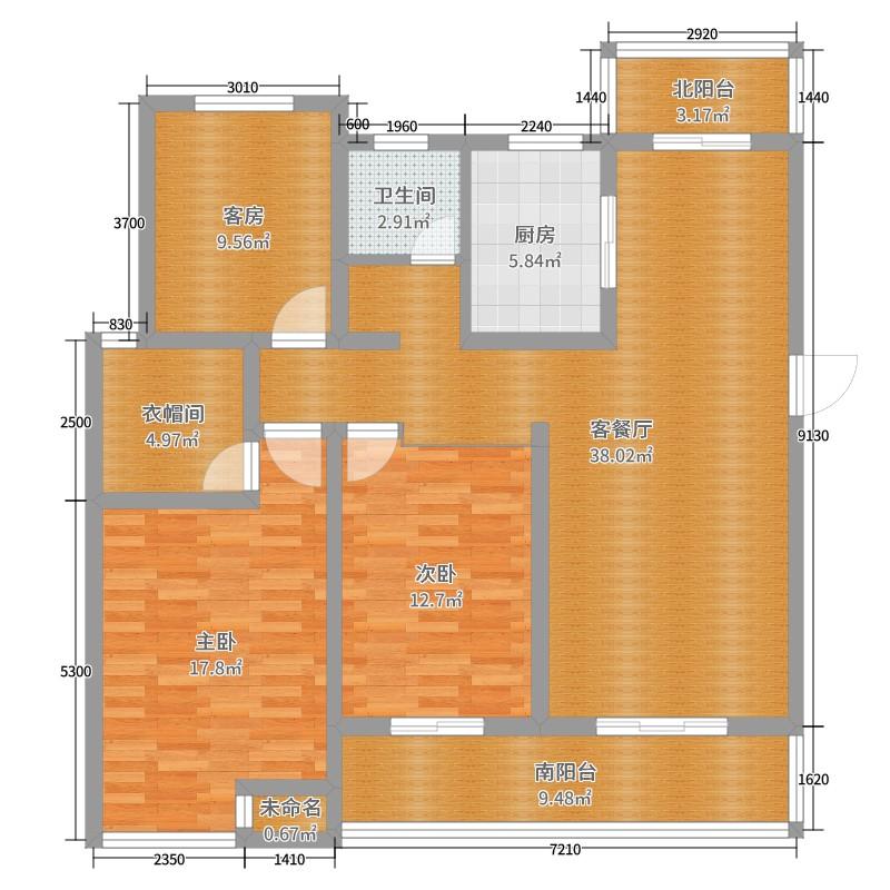 路劲御城2室2厅1卫1厨143.00户型图户型图涂料别墅效果图图片