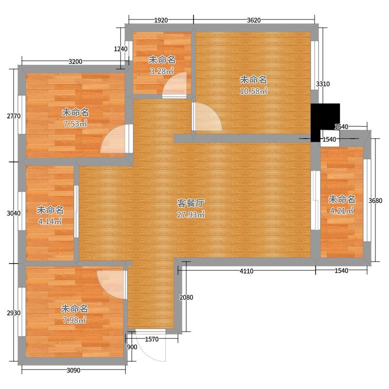 图表世界3期A区0室2厅0卫0厨84.00户型图户怎么在word里绘制远洋、图片