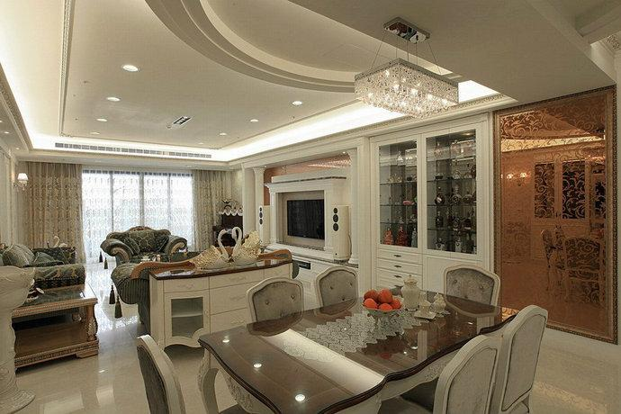 248平方新古典客厅装修效果图