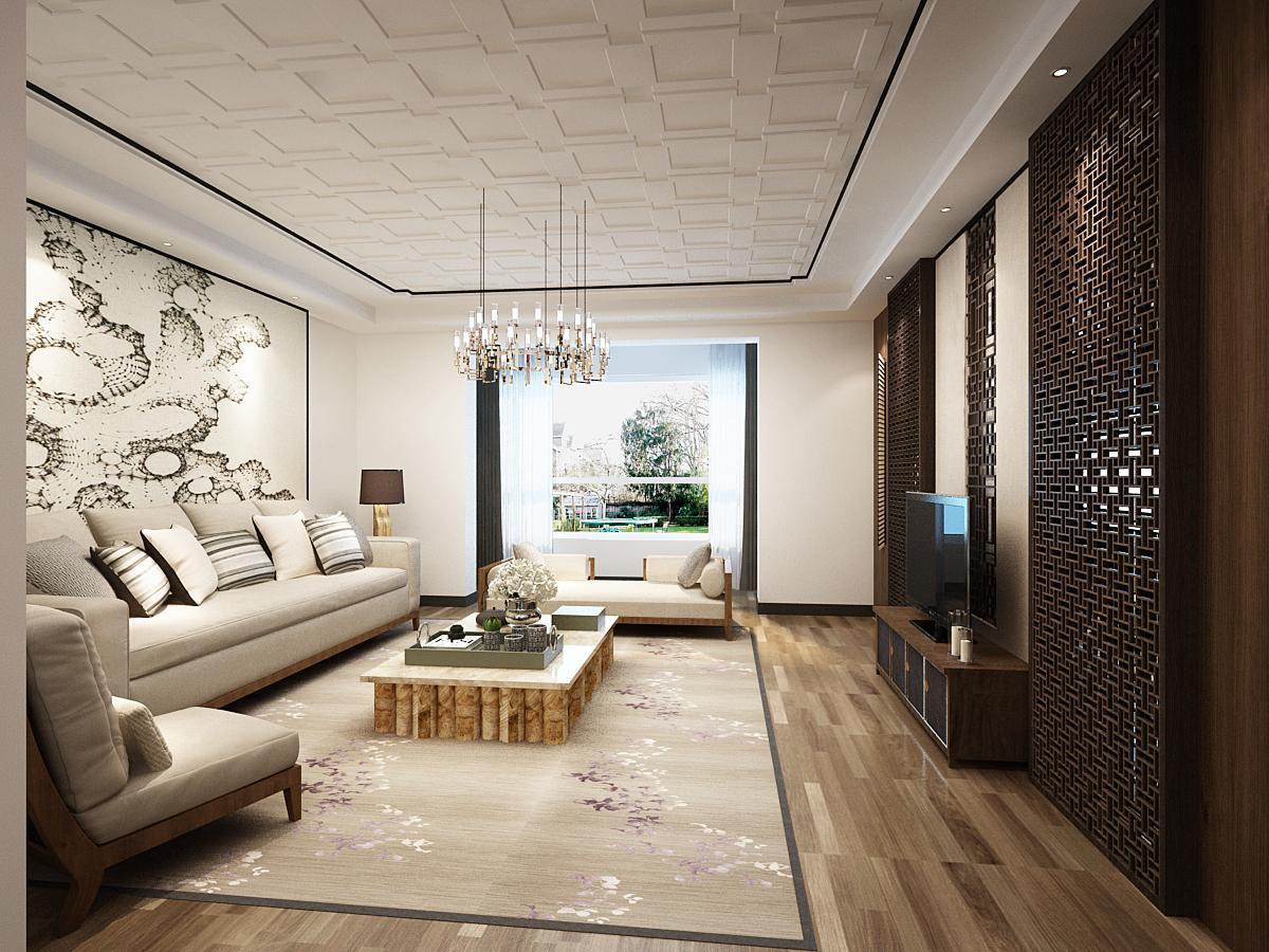 建筑面积:130㎡ 房屋户型:3室2厅1卫1厨  装修风格:新中式 装修主材