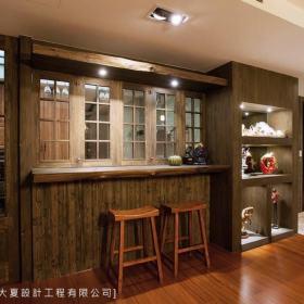 美式乡村厨房吧台设计案例