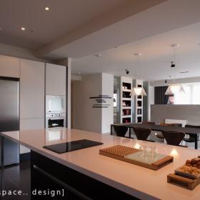 现代简约厨房吧台效果图