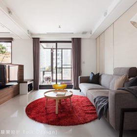 现代简约客厅沙发电视墙图片