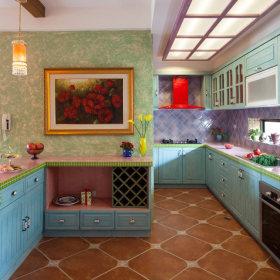 美式乡村厨房吊顶图片