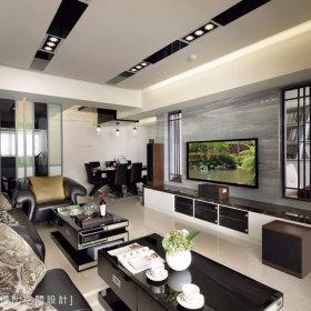 现代简约客厅吊顶装修效果展示