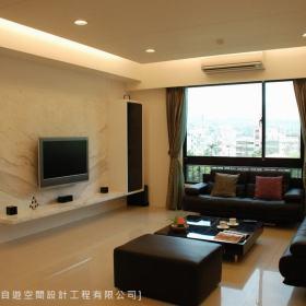 现代简约客厅电视墙设计图