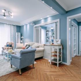简欧客厅沙发装修案例