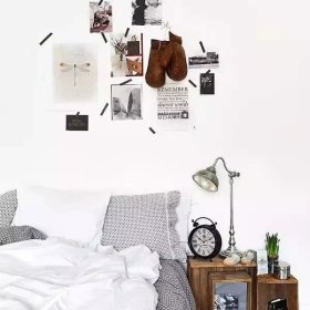 北欧卧室背景墙设计案例