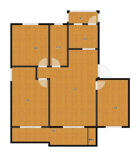 喜利达名苑3室1厅1卫1厨100.00㎡户型图