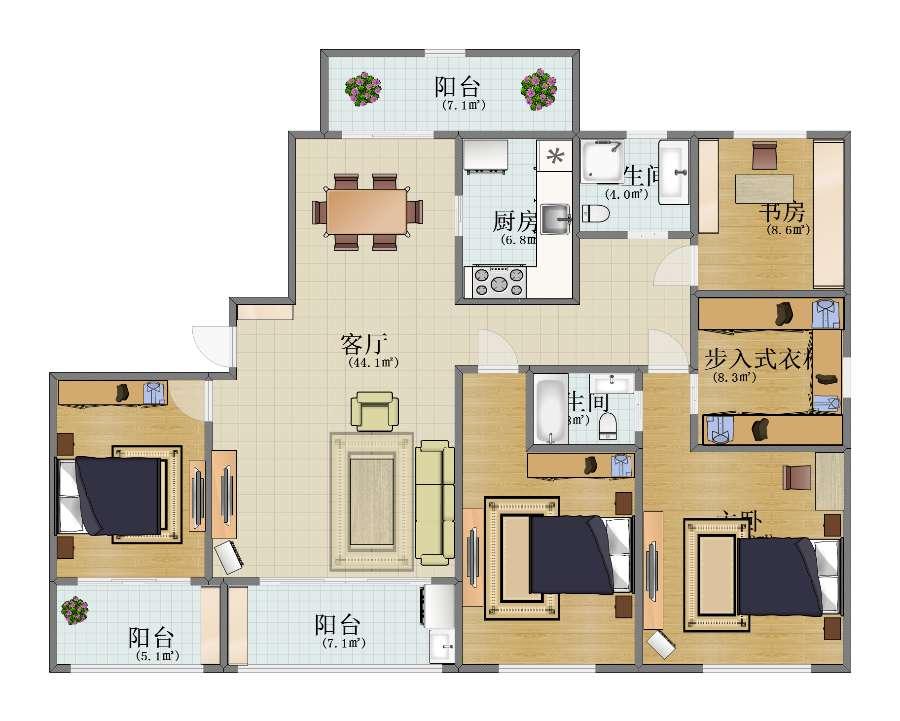 澜山公馆4居室