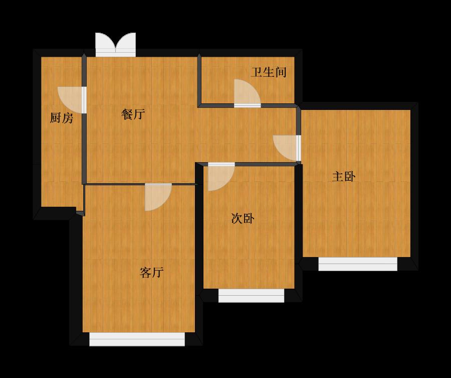 未知小区2室2厅1卫1厨