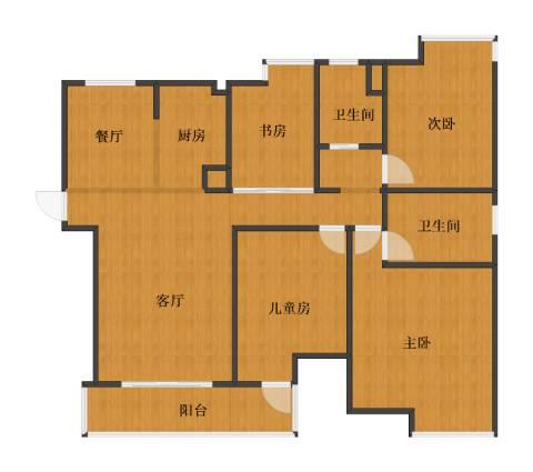上海滩大宁城4室2厅1卫2厨101.30㎡户型图