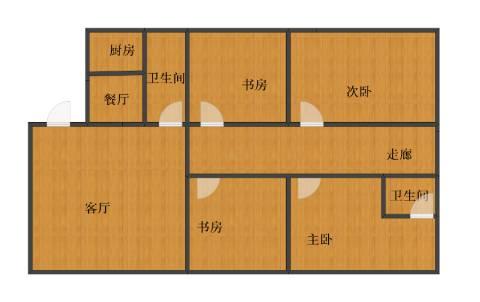 西门外大街16号院4室2厅1卫2厨102.00㎡户型图