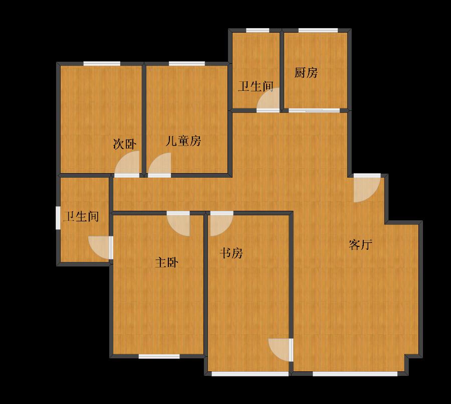 未知小区4室1厅1卫2厨