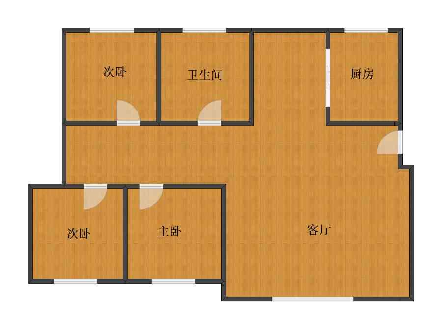 未知小区3室1厅1卫1厨