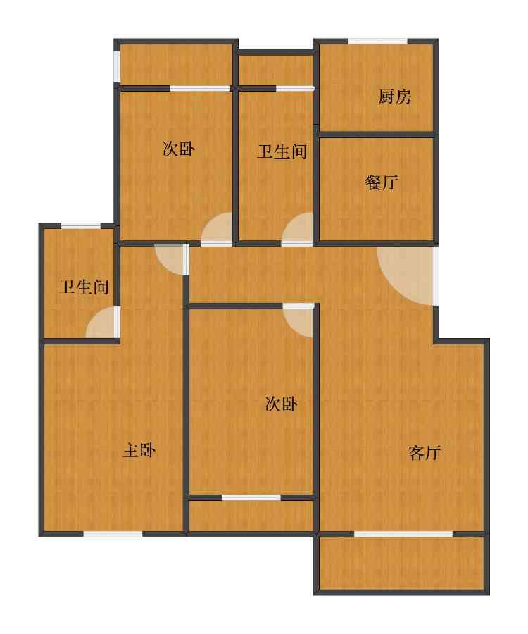 未知小区3室2厅1卫2厨