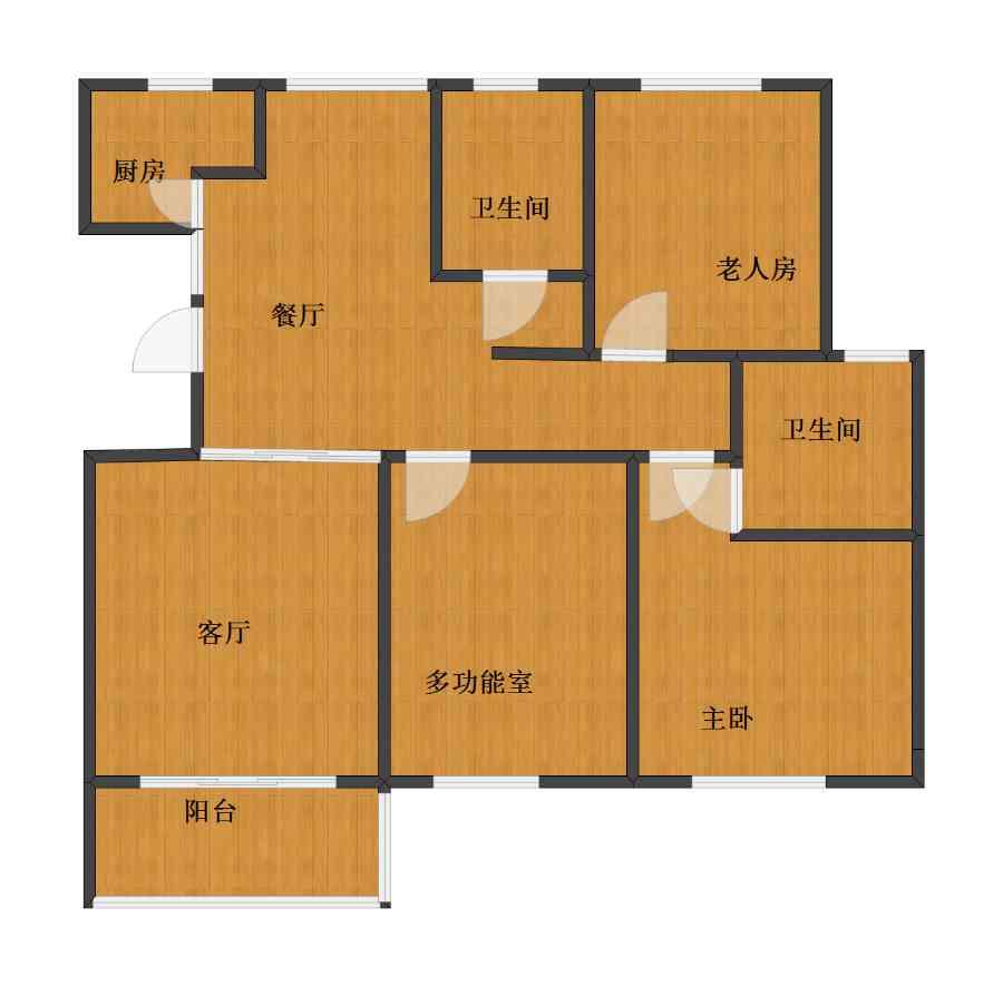 未知小区2室2厅1卫2厨