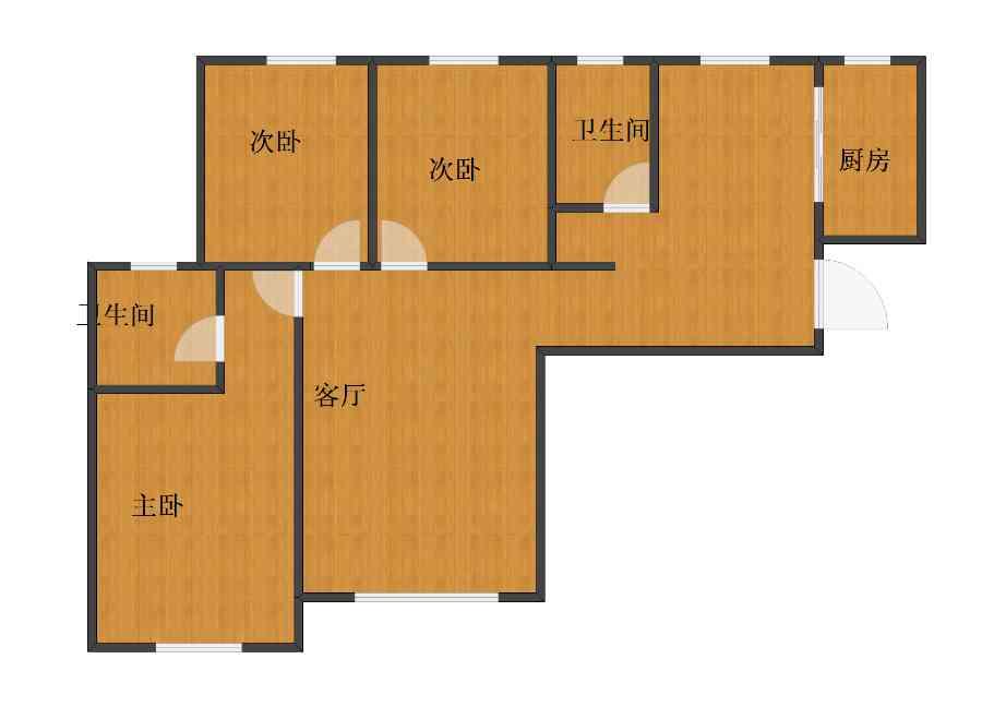 未知小区3室1厅1卫2厨