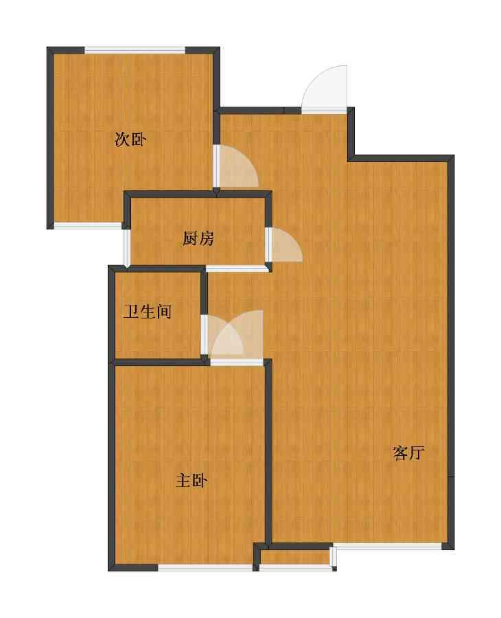 未知小区2室1厅1卫1厨