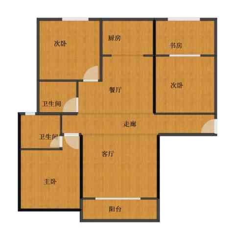 尚城国际花园4室2厅1卫2厨88.20㎡户型图