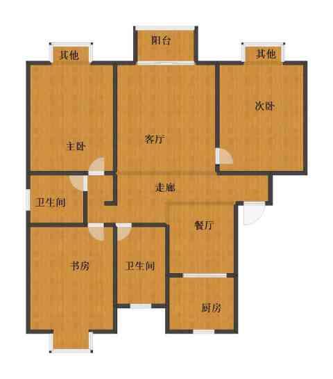 顺园四村3室2厅1卫2厨87.30㎡户型图