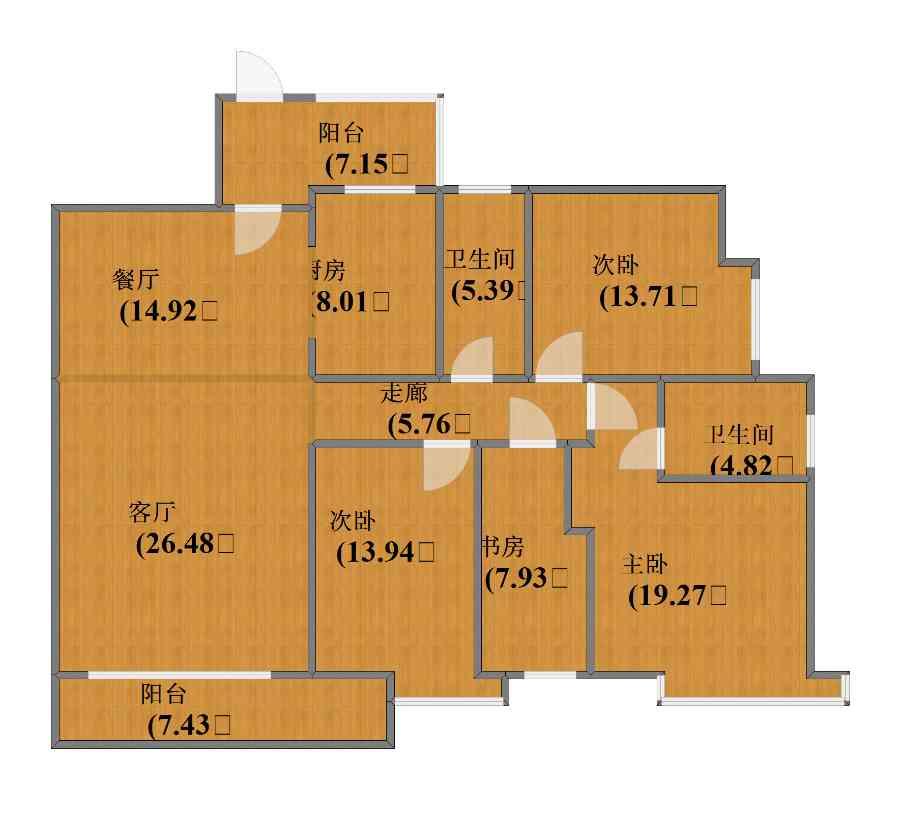 未知小区4室2厅1卫2厨