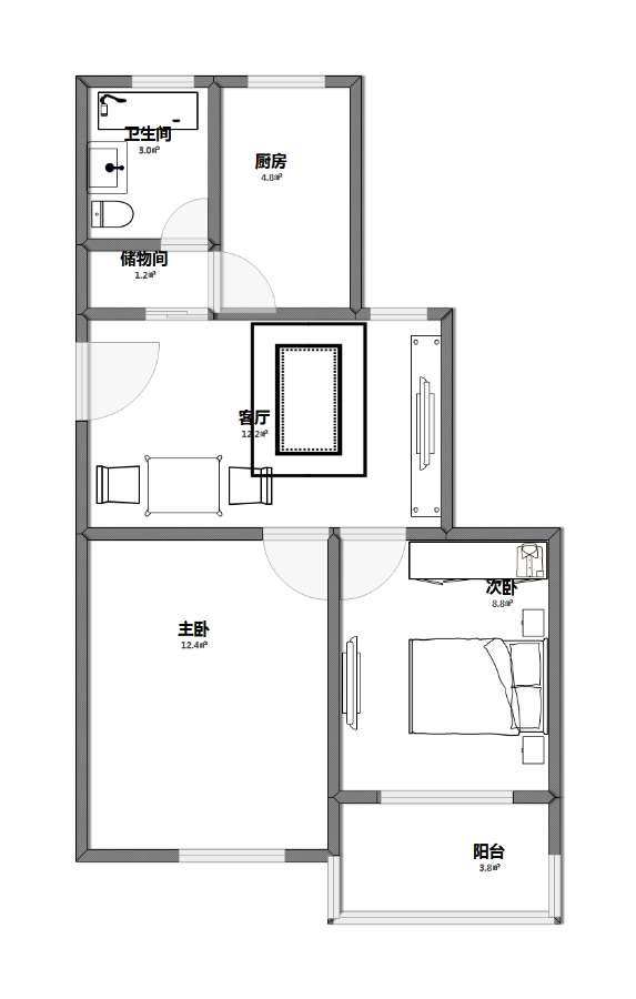 婚房平面图2