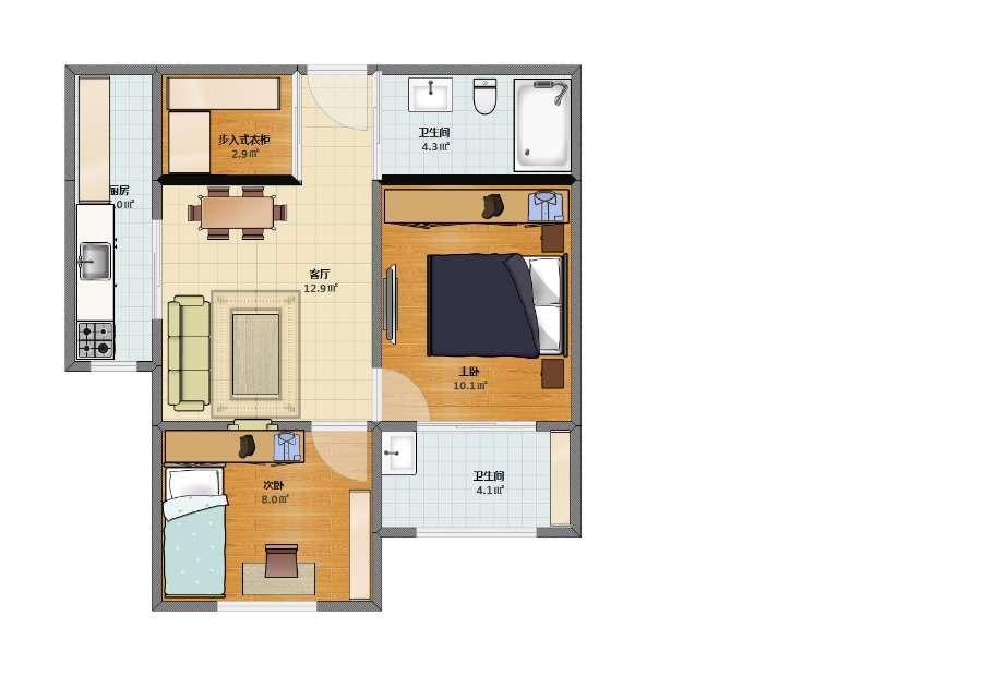 二室一厅3