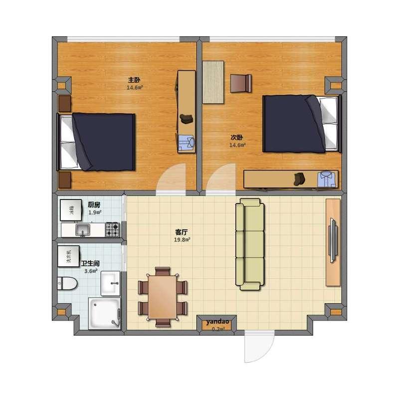 单身公寓90平222