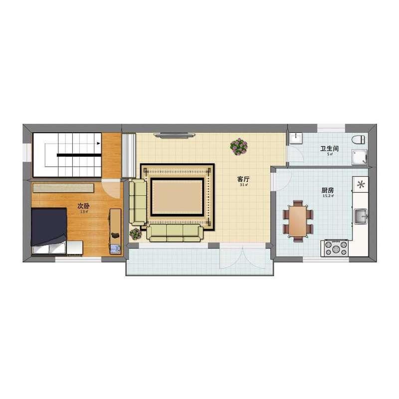 自建房一层平面布局图