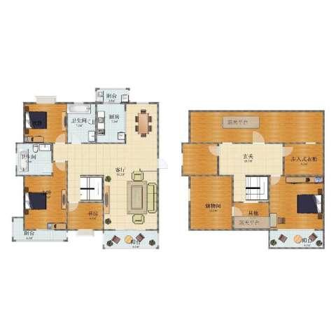新城明珠3室1厅1卫2厨234.00㎡户型图
