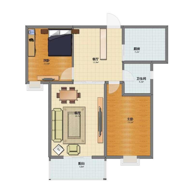 前杜北小区17层高层中门尺寸确定版